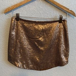 Pins & Needles gold sequin skirt size 2
